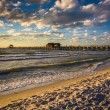 Evening clouds over the fishing pier and Gulf of Mexico in Naple — Stock Photo #57856539