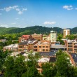 View of buildings from a parking garage in Asheville, North Caro — Stock Photo #57858079