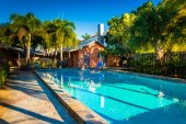 Swimming pool at a hotel in West Palm Beach, Florida.  — Stok fotoğraf