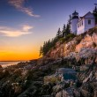Bass Harbor Lighthouse at sunset, in Acadia National Park, Maine — Stock Photo #57940757