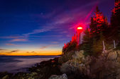 Bass Harbor Lighthouse at night, in Acadia National Park, Maine. — 图库照片