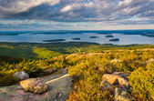 Evening view from Caddilac Mountain in Acadia National Park, Mai — Stock Photo