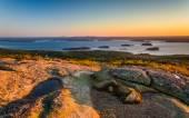 Sunrise view from Caddilac Mountain in Acadia National Park, Mai — Zdjęcie stockowe