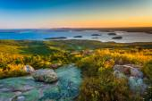 Sunrise view from Caddilac Mountain in Acadia National Park, Mai — Stock Photo