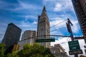 La Metropolitan Life Insurance Company Tower e Broadway stree — Foto Stock