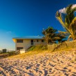 Palm trees and beach house on Jupiter Island, Florida. — Stock Photo #58124739