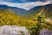 Early fall view from Bald Mountain, at Franconia Notch State Par — Stock Photo