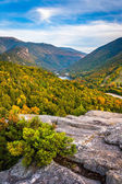 Early fall view from Bald Mountain, at Franconia Notch State Par — ストック写真