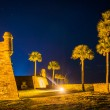Постер, плакат: Castillo de San Marcos at night in St Augustine Florida