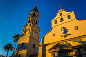 Evening light on the Cathedral Basilica in St. Augustine, Florid — Stock Photo