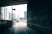 Bike path under an overpass in Philadelphia, Pennsylvania. — Stock Photo