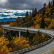 Autumn view of Linn Cove Viaduct, on the Blue Ridge Parkway, Nor — Stock Photo #58405623