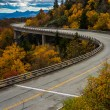 Autumn view of Linn Cove Viaduct, on the Blue Ridge Parkway, Nor — Stock Photo #58405699