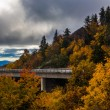 Autumn view of Linn Cove Viaduct, on the Blue Ridge Parkway, Nor — Stock Photo #58405757