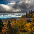 Autumn view of Linn Cove Viaduct, on the Blue Ridge Parkway, Nor — Stock Photo #58405837