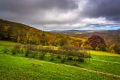 Autumn view from the Craft Center on the Blue Ridge Parkway, Nor — Stock Photo