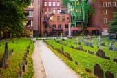 Granary Burying Ground, in Boston, Massachusetts. — Stock Photo