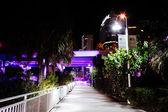 The Riverwalk at night, in Tampa, Florida. — Stock Photo