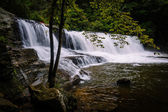 Side view of Hooker Falls on the Little River in Dupont State Fo — Stock Photo