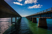The Seven Mile Bridge, on Overseas Highway in Marathon, Florida. — Stock Photo