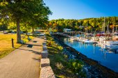 Marina in Northeast Harbor, Maine. — Stock Photo