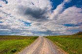 Farm fields along a dirt road in rural York County, Pennsylvania — Stock Photo