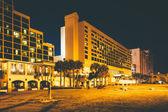 Hotels at night, in Daytona Beach, Florida. — Stock Photo