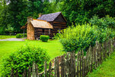 House at the Mountain Farm Museum in the Oconaluftee Valley, in  — Stock Photo