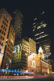 Buildings at the intersection of State Street and Congress Stree — Stock Photo