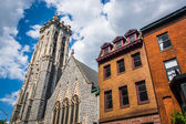 Emmanuel Episcopal Church in Baltimore, Maryland. — Stock Photo