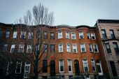 Row houses in Charles North, Baltimore, Maryland. — Stock Photo