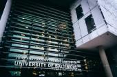 The John and Frances Angelo Law Center at the University of Balt — Stock fotografie
