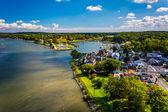 View of Chesapeake City from the Chesapeake City Bridge, Marylan — ストック写真