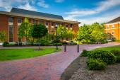 Walkways and buildings at John Hopkins University in Baltimore,  — Stock Photo