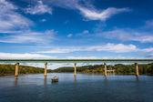 Bridge over the Passagassawakeag River in Belfast, Maine. — Stock Photo