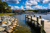 Dock at North East Community Park in North East, Maryland. — Stock Photo