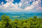 View from South Marshall, along the Appalachian Trail in Shenand — Stock Photo