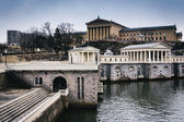 The Fairmount Water Works and Museum of Art in Philadelphia, Pen — Stock Photo