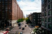 View of 23rd Street from the High Line in Chelsea, Manhattan, Ne — Stockfoto