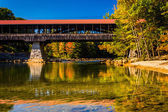 The Saco River Covered Bridge in Conway, New Hampshire. — Stok fotoğraf