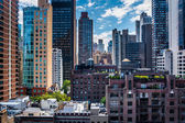 View of buildings in the Turtle Bay neighborhood, from a rooftop — Stock Photo
