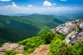 View of the Appalachian Mountains from Craggy Pinnacle, near the — Stock Photo