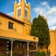 Evening light on San Felipe Neri Church, in Old Town,  Albuquerq — Stock Photo #64932281