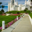 Gardens and path at the Church of Jesus Christ of Latter-Day Sai — Stock Photo #65570439
