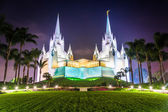 The Church of Jesus Christ of Latter-Day Saints Temple at night  — Stock Photo