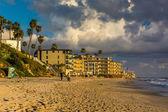 Evening light on the Main Beach, at Laguna Beach, California. — Fotografia Stock