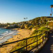 Walkway and view of the Pacific Ocean at Heisler Park, in Laguna — Stock Photo #65928297