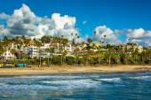 Uitzicht op het strand in San Clemente, Californië. — Stockfoto