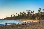 Evening light on Main Beach Park, in Laguna Beach, California. — Foto de Stock