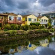 Houses along a canal in Venice Beach, Los Angeles, California. — Stock Photo #66346665